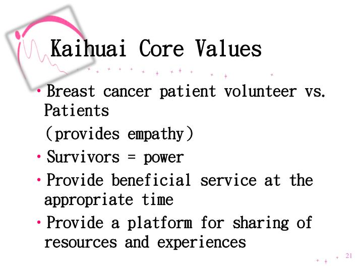 Kaihuai Core Values