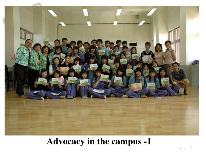 Advocacy in the campus -1