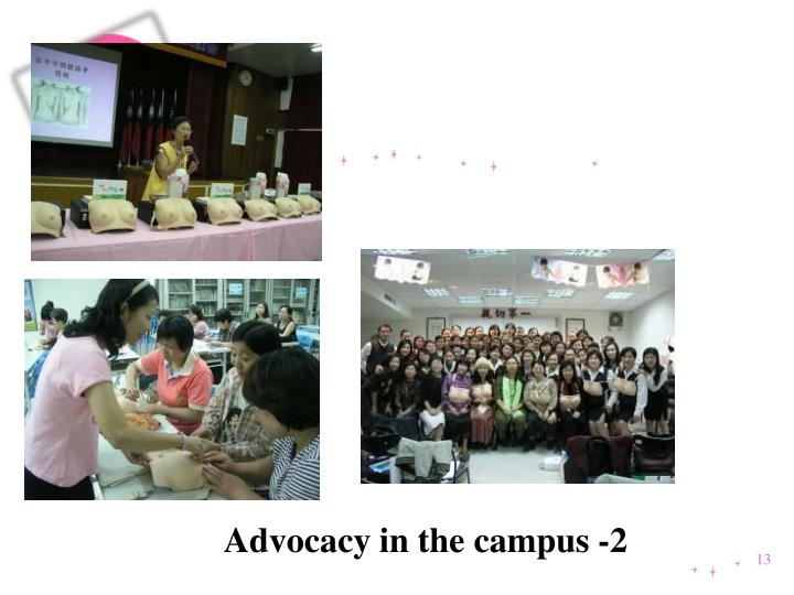 Advocacy in the campus -2