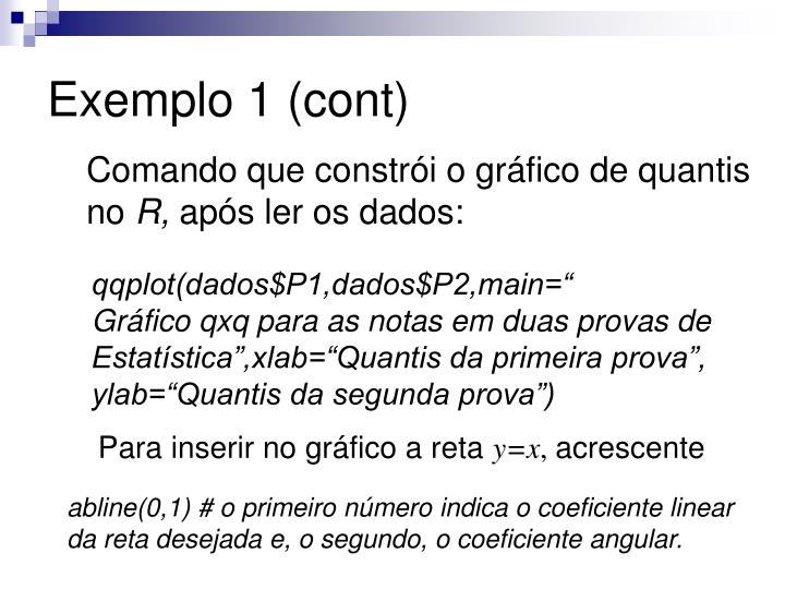 Exemplo 1 (cont)