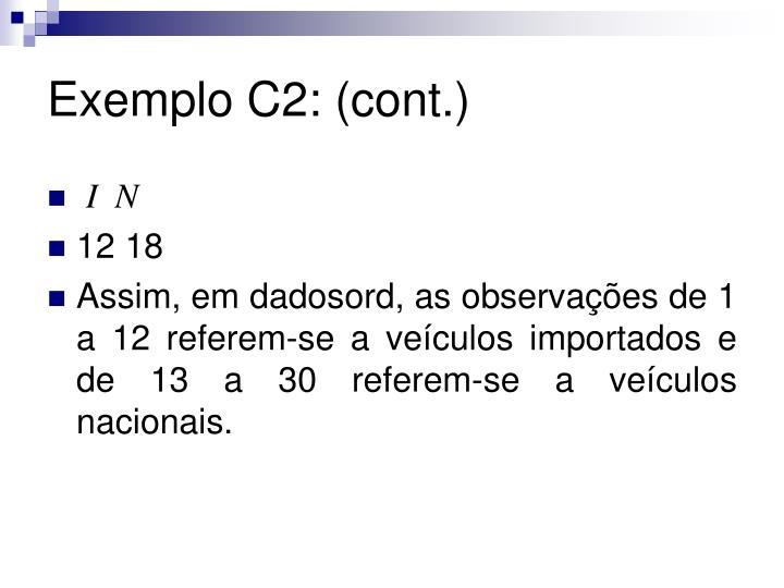Exemplo C2: (cont.)