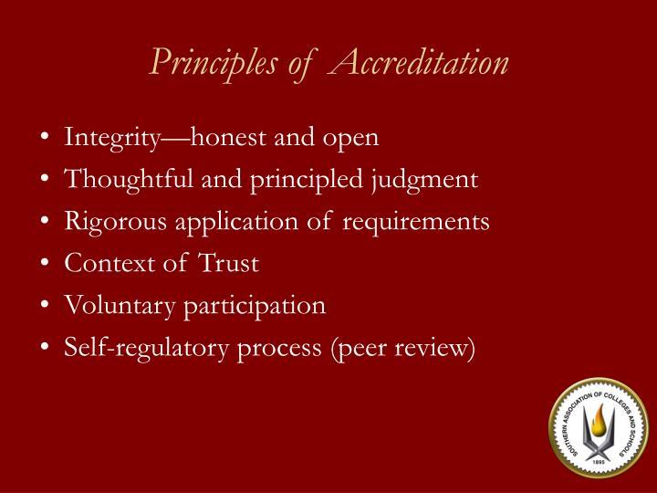 Principles of Accreditation