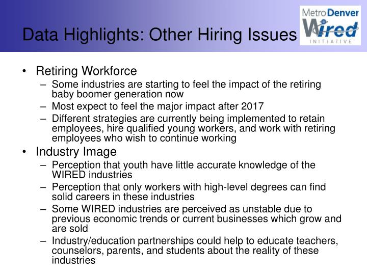 Data Highlights: Other Hiring Issues