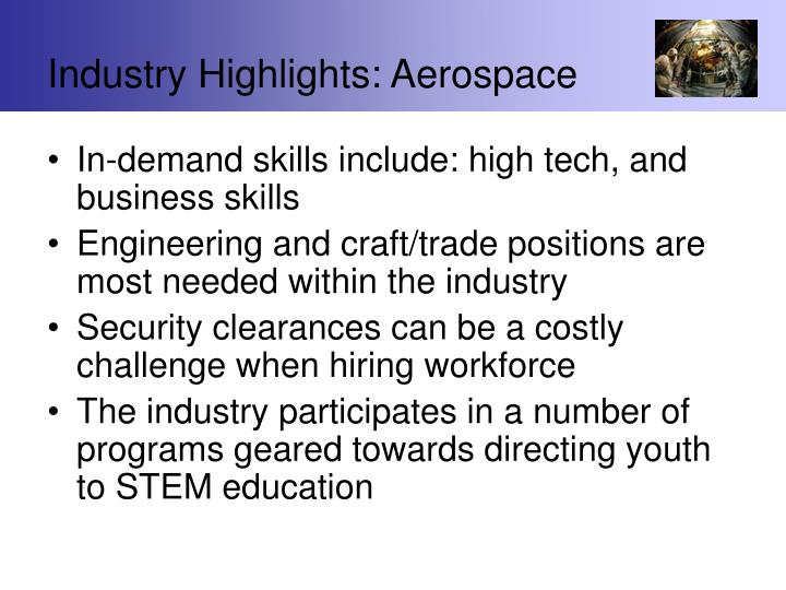 Industry Highlights: Aerospace