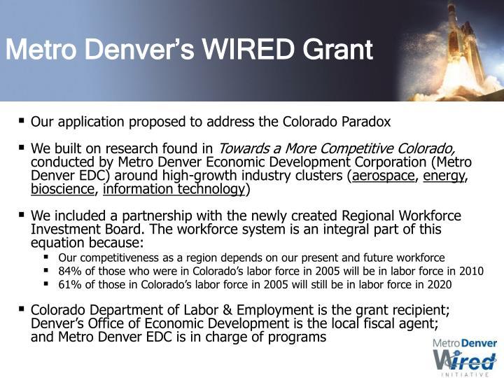 Metro Denver's WIRED Grant