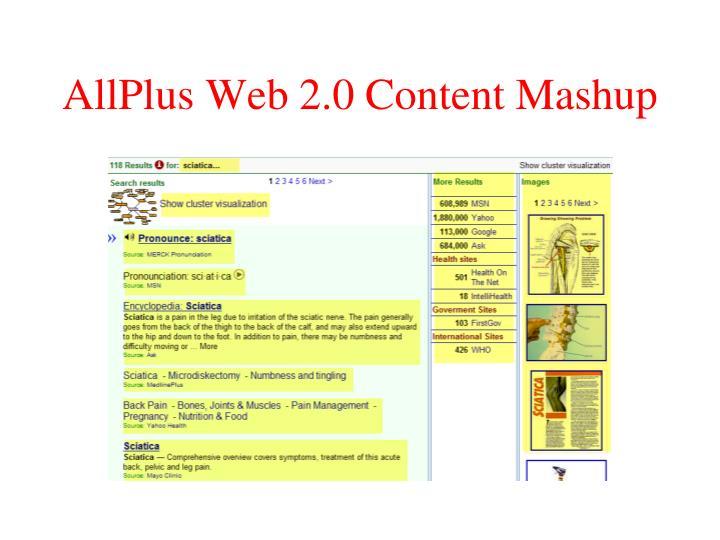 AllPlus Web 2.0 Content Mashup