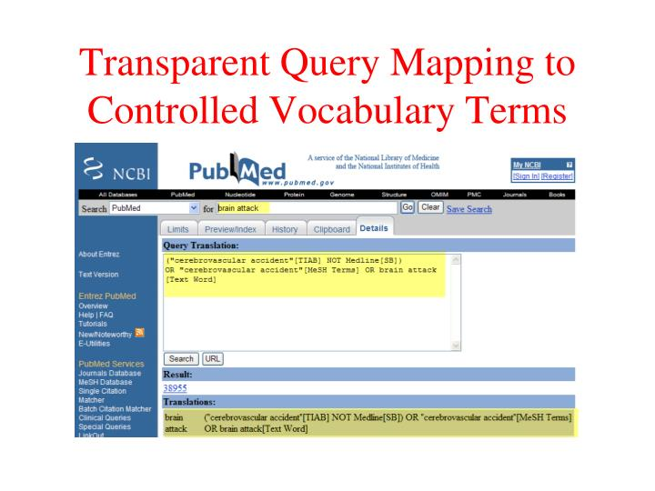 Transparent Query Mapping to Controlled Vocabulary Terms