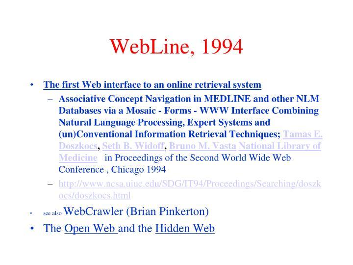 WebLine, 1994