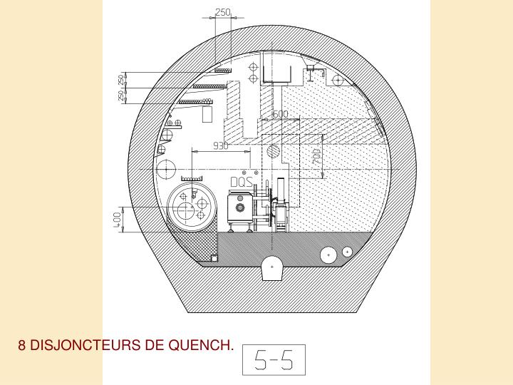 8 DISJONCTEURS DE QUENCH.