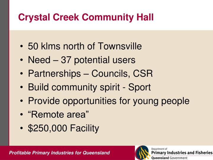 Crystal Creek Community Hall