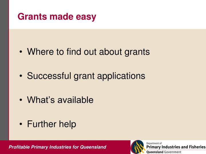 Grants made easy