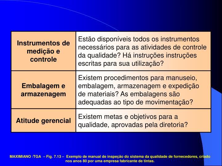 Instrumentos de medição e controle