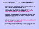 conclusion on flood hazard evolution