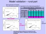 model validation rural part