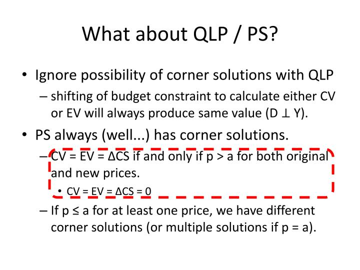 What about QLP / PS?