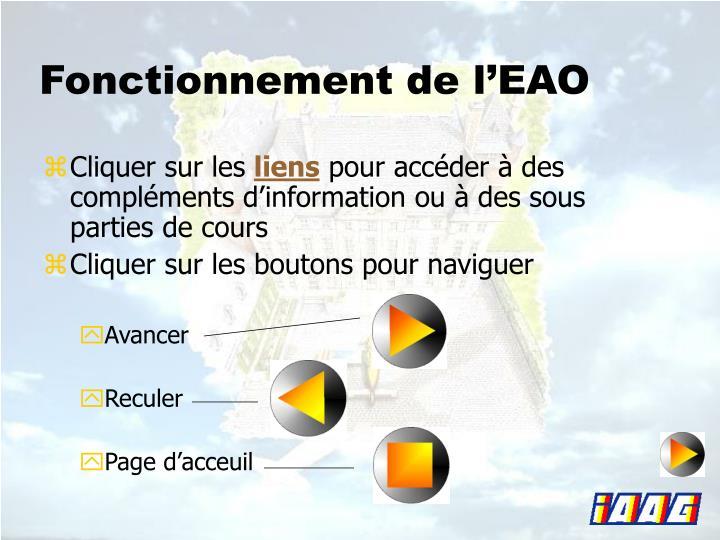 Fonctionnement de l'EAO