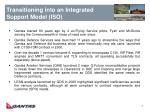 transitioning into an integrated support model iso
