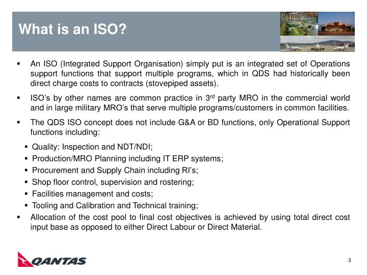 What is an ISO?