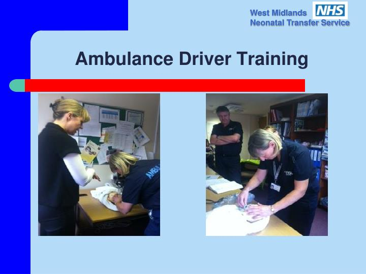 Ambulance Driver Training