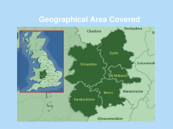 Geographical Area Covered