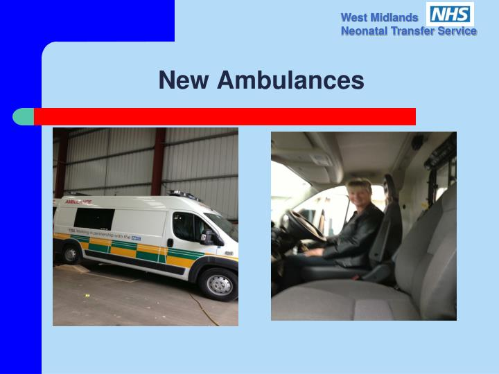 New Ambulances