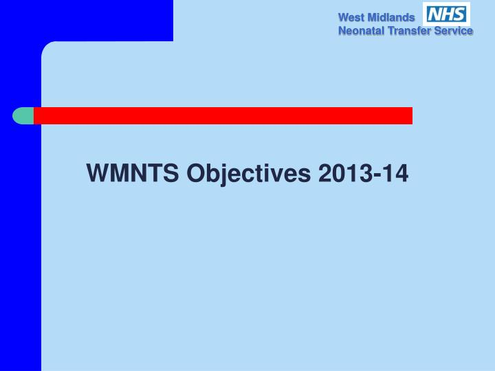 WMNTS Objectives 2013-14