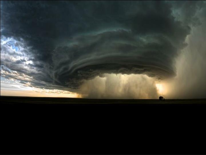 Tempête au Montana, USA