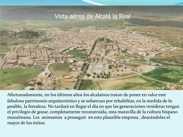 Vista area de Alcal la Real
