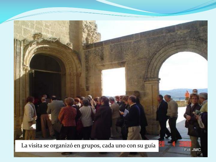 La visita se organizó en grupos, cada uno con su guía