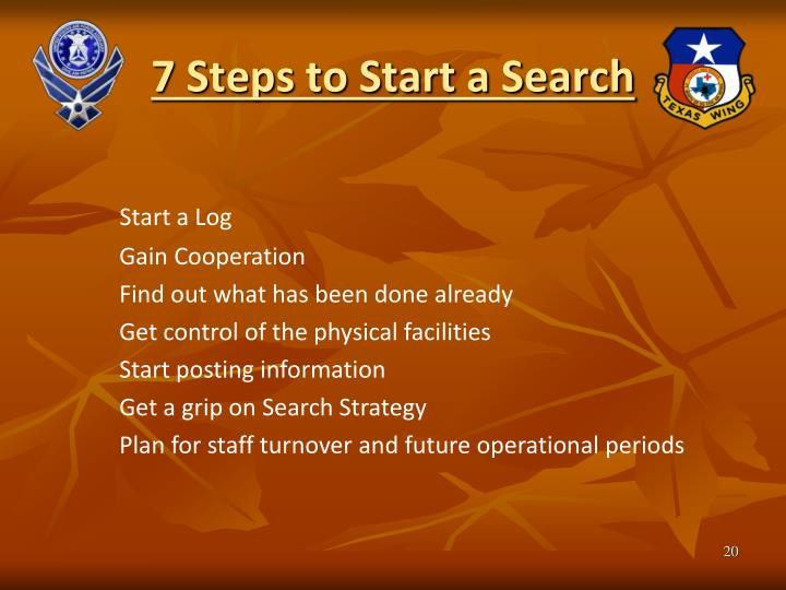 7 Steps to Start a Search
