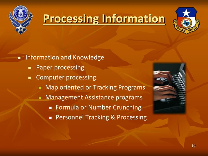 Processing Information