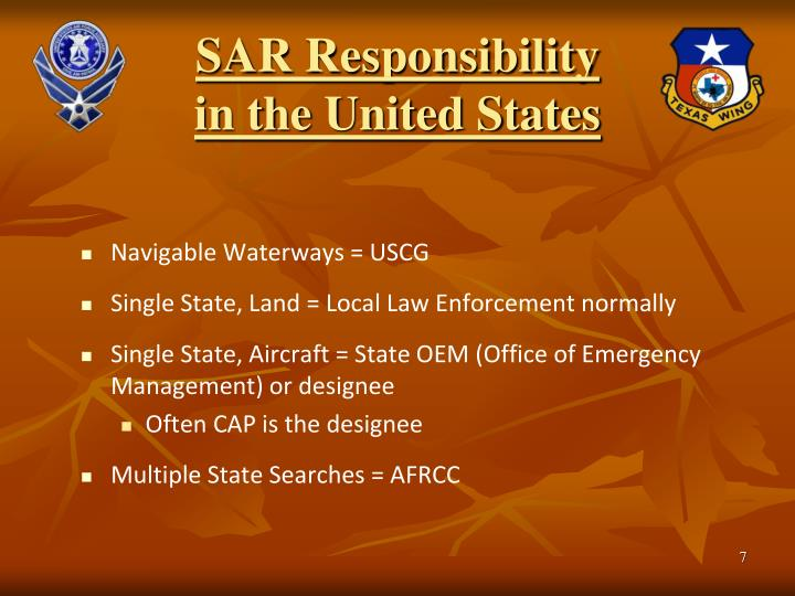 SAR Responsibility