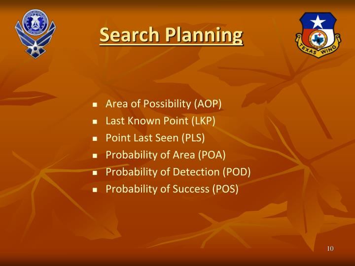 Search Planning