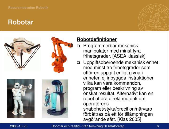 Robotdefinitioner