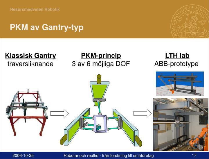 PKM av Gantry-typ