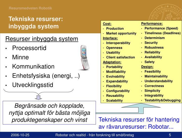 Resurser inbyggda system