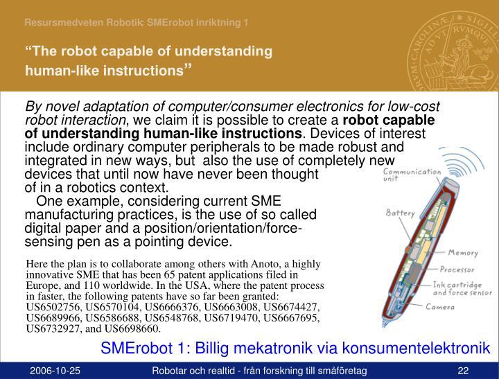 : SMErobot inriktning 1