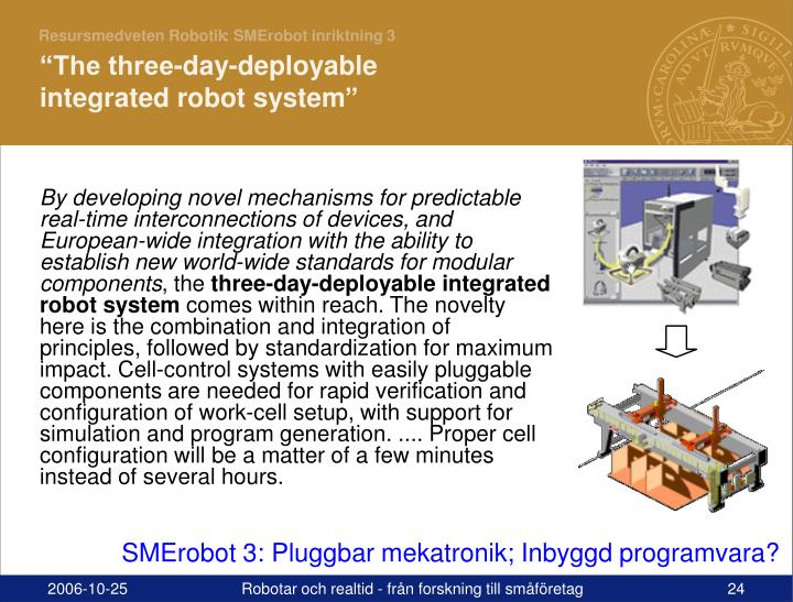 : SMErobot inriktning 3
