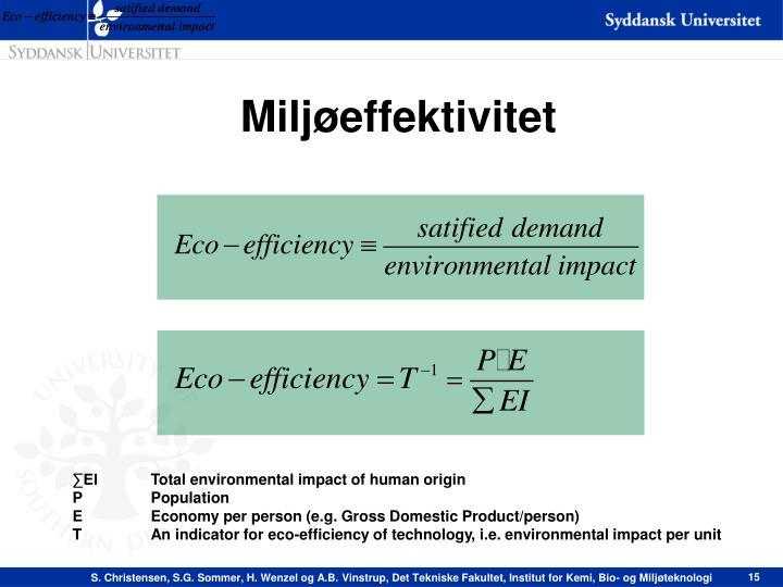 Miljøeffektivitet