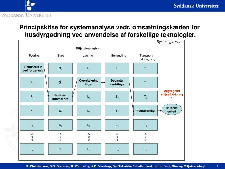 Principskitse for systemanalyse vedr. omsætningskæden for