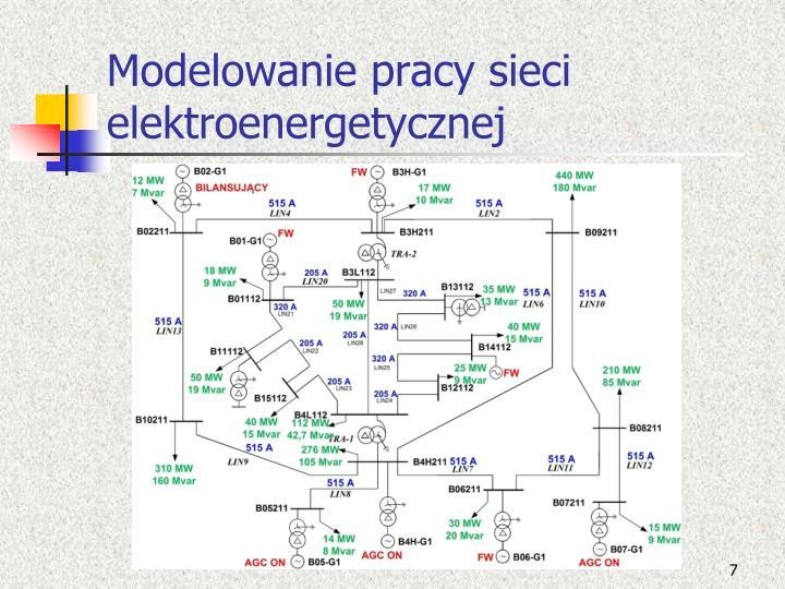 Modelowanie pracy sieci elektroenergetycznej