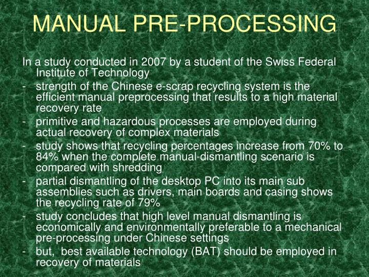 MANUAL PRE-PROCESSING