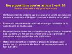 nos propositions pour les actions venir 5 5 vote for us we have a very good track record