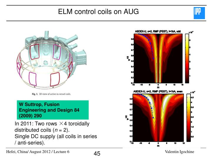 ELM control coils on AUG