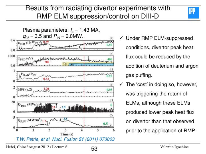 Results from radiating divertor experiments with RMP ELM suppression/control on DIII-D