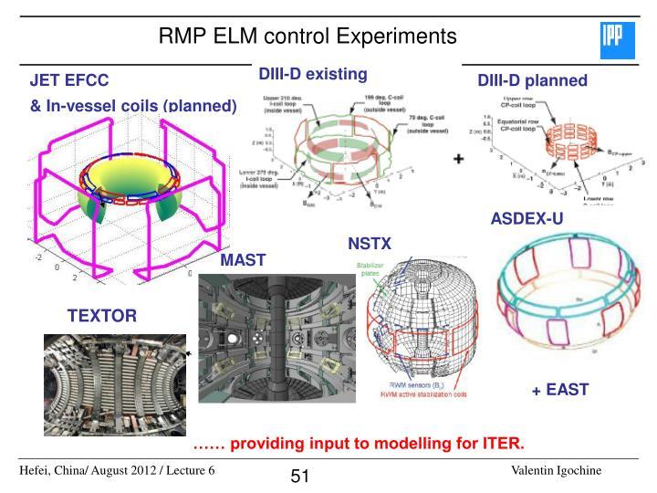 RMP ELM control Experiments
