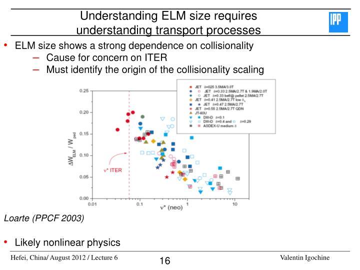 Understanding ELM size requires