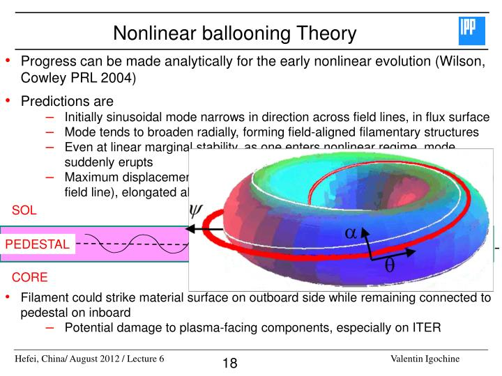 Nonlinear ballooning Theory