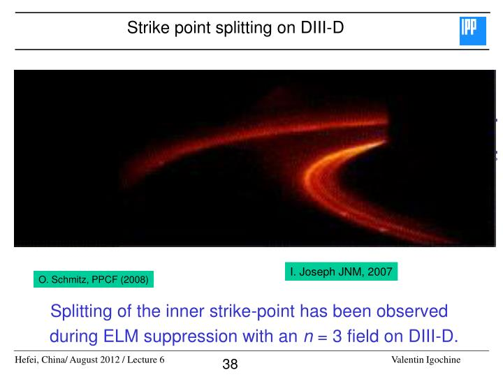 Strike point splitting on DIII-D