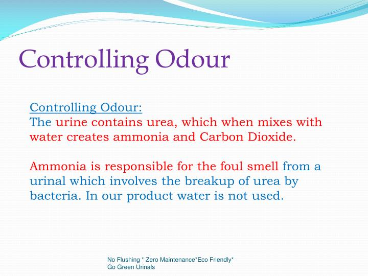 Controlling Odour